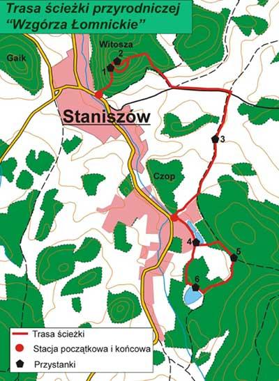 Mapa Staniszów