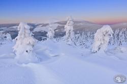 Śnieżka przedświt z Lasockiego